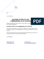 An Open Letter To The Commonwealth Of Nations