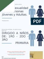 SALUD Y SEXUALIDAD DE LAS PERSONAS JÓVENES Y ADULTAS