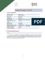 Economics Course Outline