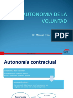 Autonomia de La Volutnad- PRIMERA CLASE