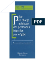 Prise en charge medicale des personnes infectees par le VIH _ Recommandations du groupe d'experts