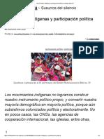 Movimientos Indigenas y Participacion Politica - Ollantay Itzamna