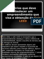 CREITÉRIOS SELO LEED