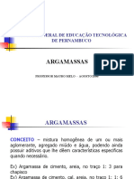 AULA Nº 06 - ESTUDO DAS ARGAMASSAS