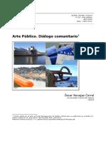 Arte publico dialogo comunitario