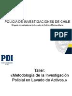 Luis Perez - PDI Metodologia de la Investigación Policial en Lavado de Activos ppt
