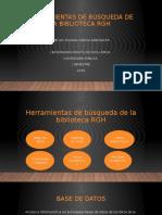 HERRAMIENTAS DE BÚSQUEDA DE LA BIBLIOTECA RGH