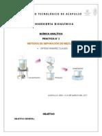PRACTICA N° 2 METODOS DE SEPARACION DE MEZCLAS