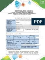 Guía de actividades y rúbrica de evaluación - Paso 3 - Reconocer significativamente los factores eco-fisiológicos en la producción animal.docx