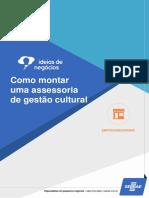 SEBRAE montar uma assessoria de gestão cultural