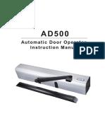 AD 500. instruction Manual pdf