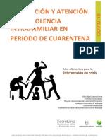 PREVENCIÓN Y ATENCIÓN DE LA VIOLENCIA INTRAFAMILIAR EN PERIODO DE CUARENTENA