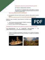 Actividades Castellano 8°