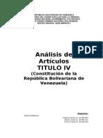 Analisis Título IV. CRBV