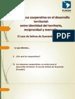 La empresa cooperativa en el desarrollo territorial_ entre identidad del territorio, reciprocidad y mercado.