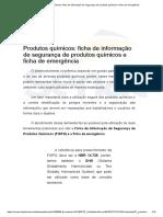 Produtos Químicos_ Ficha de Informação de Segurança de Produtos Químicos e Ficha de Emergência