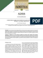 COMENTARIOS SOBRE NUEVE ESPECIES DE AVES DE SANTIAGO DEL ESTERO Y TUCUMÁN, ARGENTINA