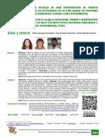evaluar la eficacia de una intervencion de t.o en avd en personas que padecen parkinson, estudio cuasiexperimental