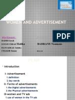 women and advertisement