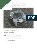 Speedometer Using Arduino Pro Micro