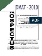 Prospectus DMAT 2010