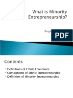 Regina Kachidza | What is Minority Entrepreneurship?