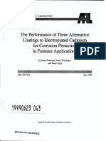 The Performance of Three Alternative Coatings to Electroplated Cadmium for Corrosion Protection Fastener application
