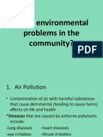 health 6 environmental problems in the community