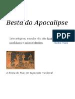 Besta do Apocalipse – Wikipédia, a enciclopédia livre