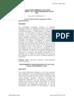 LA EDUCACION AMBIENTAL (EA) COMO HERRAMIENTA  DE LA RESPONSABILIDAD SOCIAL (RS)