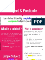 1. Subject & Predicate Lesson