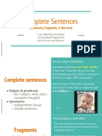 1. Sentences, Fragments, & Run-Ons