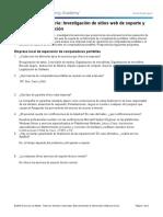 Practica de laboratorio 68 - Investigación de sitios web de soporte y empresas de reparación