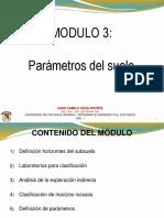 Módulo 3. Parámetros del suelo