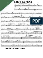 SCORE VALIO LA PENA - Trumpet in Bb 1