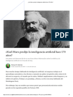 ¿Karl Marx predijo la inteligencia artificial hace 170 años_