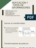 Clasificación y tipos de transformadores, I