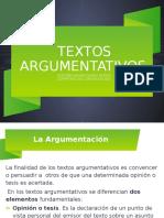 TEXTOS ARGUMENTATIVOS COM  COMUNICATIVAS  I