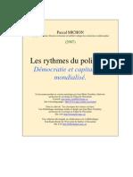 Michon, Pascal Rythmes Du Politique