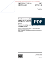 ISO 19901-1-2015 Metocean design and operating considerations