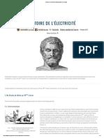 Histoire de l'Électricité _ Encyclopédie de l'Énergie