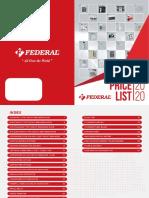 Pricelist Federal 2020 Low