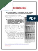 TECNICAS DE APEXIFICACION!!!