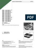 W203 ME-SFI [ME] Control Unit, Component Description