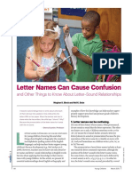 Letter names can cause confusion
