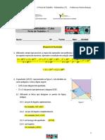 1ª Ficha 7º Matemática resolução