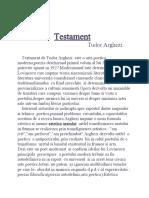 Testament,Tudor Arghezi