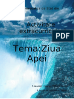 activitate extracuriculara zua mondiala a apei color