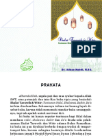 Tuntunan Nida', Shalawat, Dzikir, Do'a, dan Niat Shalat Tarawih & Witir
