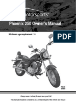 PX250 Motorcycle Owners Manual (VIN Prefix LUAH)